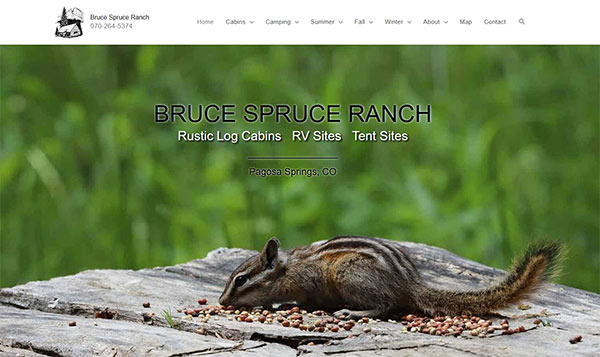 Bruce Spruce Ranch website