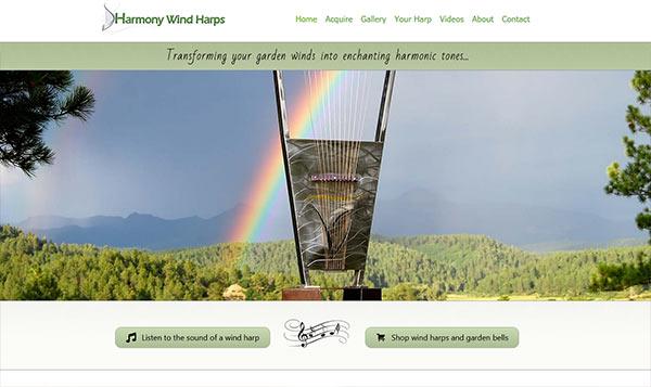 Harmony Harps website