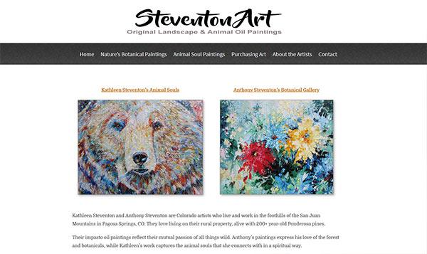 Steventon Art website