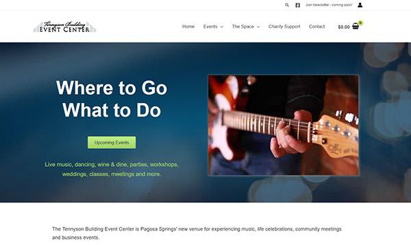 Tennyson Event Center website